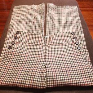 J. Crew Plaid Wide Legged Wool Pants Sz 2